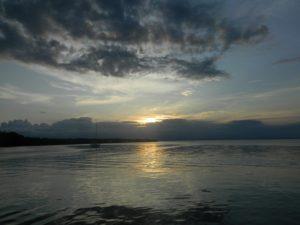 Uno dei tramonti da sogno sulla palafitta