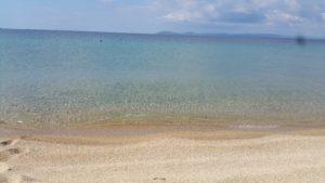 Dettaglio della spiaggia di Toroni