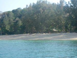 Parte finale della lunghissima spiaggia del resort