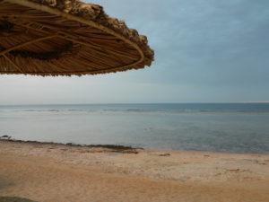 Spiaggia vista dal lettino