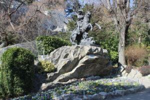 Statua di Philis de la Charce nei Jardins des Dauphins