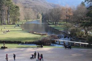 Il parco come lo si vede dal castello di Vizille