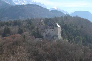 Castello di Menthon Saint-Bernand visto dalla strada