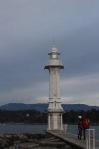 Faro posto alla fine dei Bains des Paquis
