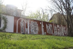 Muro che delimita la proprietà della City Gallery of Fine Arts