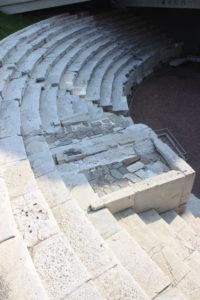 Parte dei gradoni dello Stadio Romano