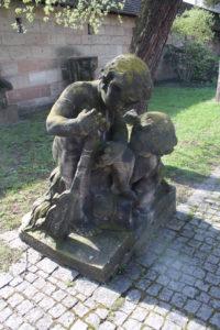Statua all'interno del Burgmeistergarten