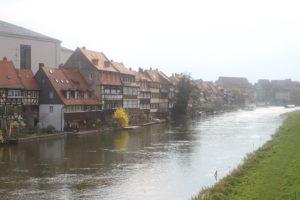 Scorcio del lungofiume di Bamberg