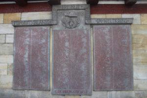 In onore degli abitanti di Forchheim morti durante la prima guerra mondiale