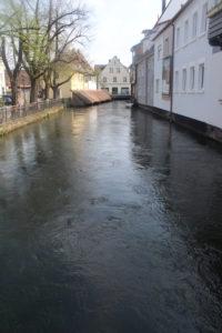 Un canale che taglia Forchheim