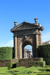 Accesso al Giardino all'italiana oggi chiuso