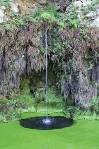Fontana del Diluvio - dettaglio di uno dei tre zampilli