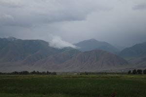 Le montagne che fanno da sfondo a Kochkor