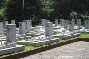 Scorcio del piccolo cimitero per le vittime della seconda guerra mondiale