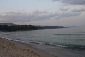 Il Mar Nero a Varna al Tramonto