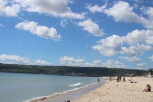Lo spettacolo del Mar Nero quasi senza anima viva nei paraggi