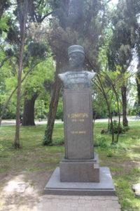 Una delle tante statue di personaggi storici bulgari nel Sea Garden