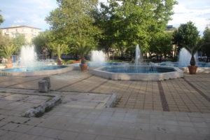 Complesso di fontane in zona Municipio