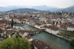 Bellissima vista di Lucerna