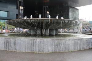 Fontana di fronte al KKL