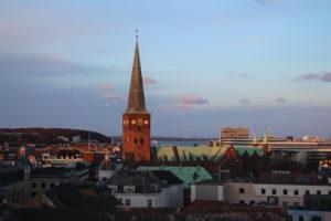 Uno scorcio di Aarhus vista dal trampolino panoramico