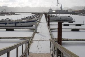 Le banchine del porto di Vejle sono così