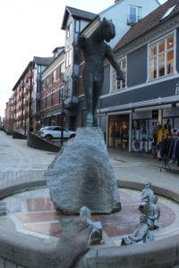 Una scultura nel Latinerkvartieret