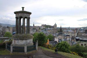 Il Dugald Stewart Monument ed il panorama di Edimburgo