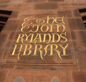 """Il logo della """"John Rylands Library"""""""