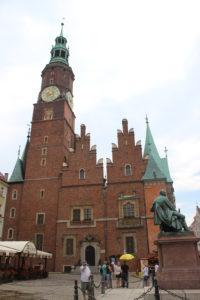 Fronte del Municipio di Wroclaw