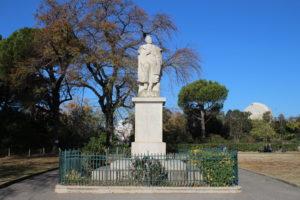 Alphonse de Lamartine nel parco del Palais Longchamp