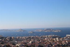 Panoramica di Marsiglia e del suo mare