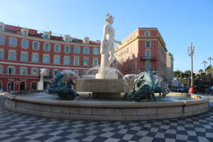 Fontaine du Soleil di giorno