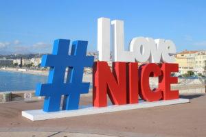 "Logo tridimensionale ""I Love Nice"""