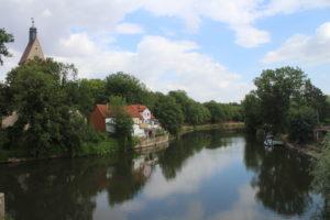 Cartolina sul fiume Saale