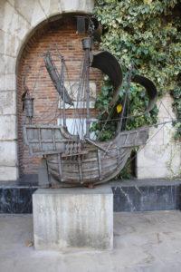 Miniatura della Santa Maria, una delle tre Caravelle