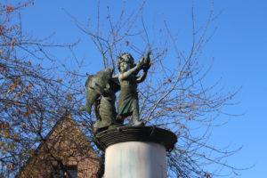 Omaggio s Jules Verne bambino ed a suo fratello Paul