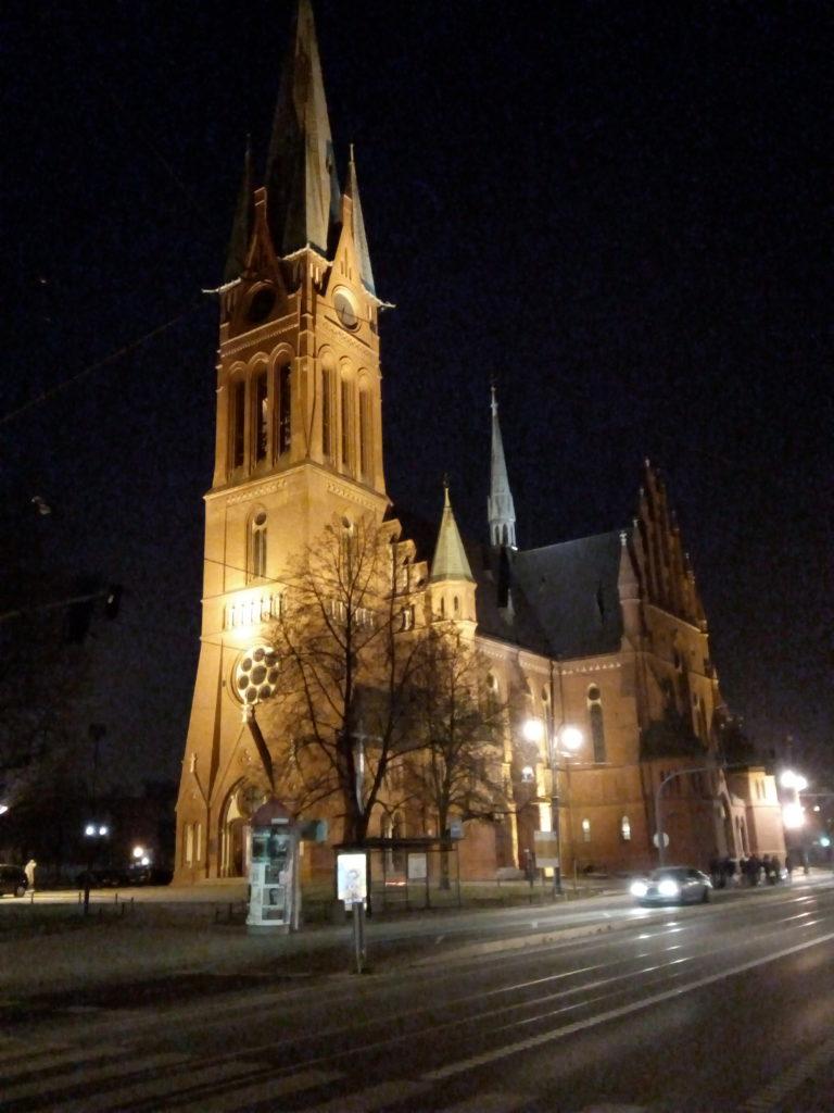 Chiesa di Santa Caterina in notturna