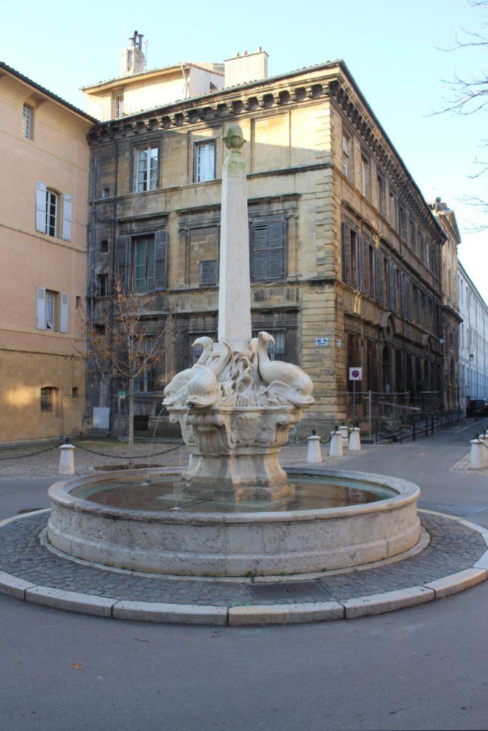 Fontaine des Quatre Dauphins - Panoramica