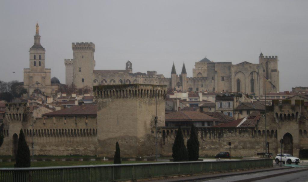 Il centro storico di Avignone visto dal Ponte Edouard Daladier