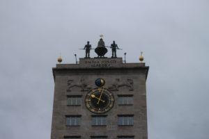 Dettaglio dell'orologio del Krochhaus