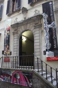 Ingresso del Museo Diocesano di Palazzo Rospigliosi