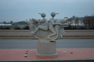 Pinocchio sul Ponte Europa