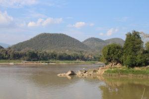 Alla confluenza tra Nang Khan e Mekong