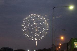 Fuochi d'artificio visti dal Mekong