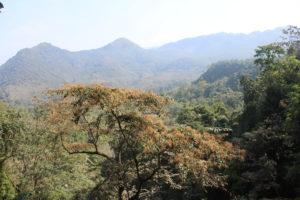 La vista dall'alto della cascata