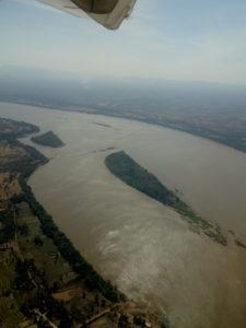 Primo sguardo al Mekong nell'area di Pakse