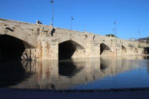 Pont del Mar e Laghetto dall'alveo dell'ex fiume Turia