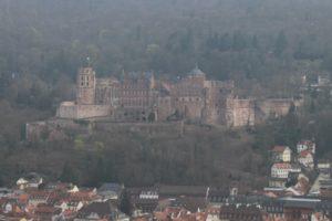 Castello di Heidelberg visto dal Philosophenweg