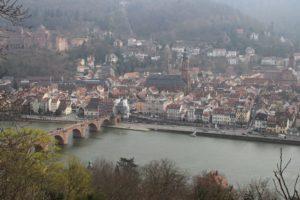 Heidelberg vista dal Philosophenweg